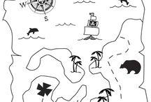 Coloriages de pirates / De beaux dessins de pirates à colorier pour les petits et les grands..