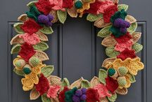Wreaths / Crochet and pompom wreaths galore!