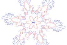 Snowflakes crochet - Śnieżynki na szydełku