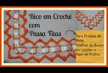 Bicos de Crochet para Fraldas