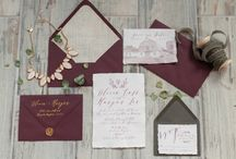 Marsala And Gray Wedding