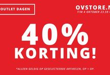 40% discount / 40% discount in our outlet store
