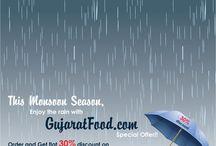 Monsoon Season / This Monsoon Season, Enjoy the rain with GujaratFood.com Special offer!!