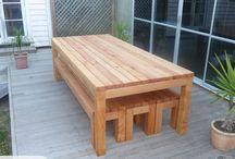 Outdoor table DIY design ideas