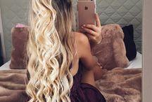 Langt hår