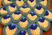 crochet påfugl mønster