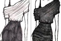 Sketching and drawing clothes / I love to make my own clothes, I love to draw clothes, I love to look at clothes! Here are some of my inspirations