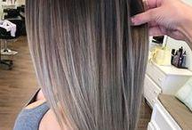 saçların uçlarını renklendirme ve duzlestirme veya fonlendirme