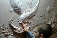 Duvar kabartma ve boyama