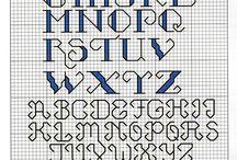 Alphabets blackwork, cross sitich