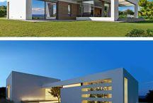 Contemporary Greek homes, villas