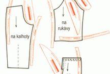 Střihy, šití  /Patterns , sewing / Střihy, šití