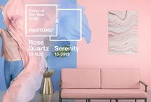 Color of the year 2016 - Pantone / Rose Quartz and Serenity