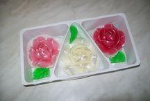 fleurs en sucre / décors en sucre tiré fleurs en sucre