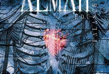 ALMAH - P.I. 5 / Imagens da Banda, trechos de músicas, quotes musicais, referências de outras bandas para o Projeito Integrado.