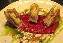 Φαγητο / Πανσέτα με πουρέ σελινοριζας και σάλτσα μήλου