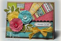 Floral Cards / Card inspiration - cards embellished with flowers!