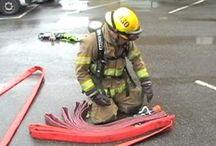 Strażackie ćwiczenia