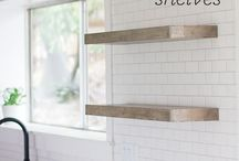 Kitchen tiles and shelves