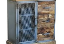 Metal and Wood Industrial Furniture