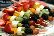 SNACKS! / It is so much fun to use a little creativity in choosing the right snacks - lots of color - lots of taste !!