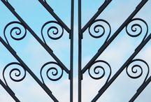 Decorative Ironwork / Decorative iron railings and grills.