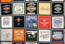Harley tee shirt quilts