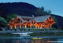 Log Post & Beam Homes / Take a look at these gorgeous log post and beam homes crafted by Pioneer Log Homes of B.C. / by Timber Kings
