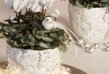 dekoracja kwiata doniczkowego