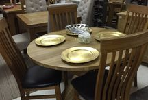 Tables and chairs / All our tables are made from solid wood, mainly pine and oak. You can have them painted if you prefer. The range of dining chairs is second to none!