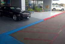 Car Dealership floors / Commercial Concrete Coatings -  http://www.5starfloorcare.com/commercial-concrete-coatings/