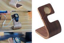 Dřevěné nabíjecí stojánky pro Apple Iphone / Stylové dřevěné nabíjecí stojánky pro iphone všech generací.