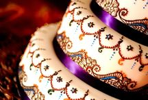 Henna and Mehndi Inspired Food / Henna inspired wedding cakes, mehndi style decorated cookies, and more