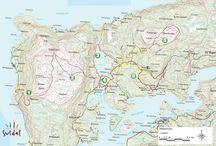 Tur / Turar på halvøya, med kart