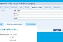 Additional fields / Additional fields serves for specify an unique characteristics of the product, which can be used also in searching of products. More info: http://www.bizwebs.com/a/636