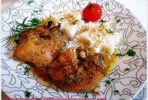 παιδάκια κοτόπουλου φούρνου κρασάτα με μουστάρδα