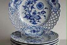 Blue and white transfer ware