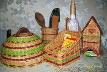 Плетеный кухонный набор
