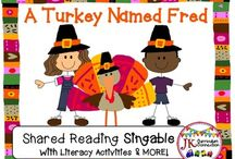Thanksgiving Songs, Games and Printables / Resources for Kindergarten and First Grade classrooms for the month of November