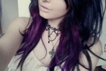 Black Hair with Purple Tips / Hairstyle Options
