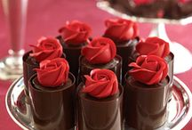 tempering chocolate roses