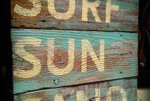 sea sun beach sand signs diy