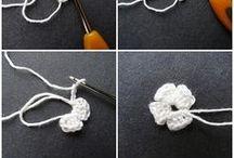 crochet flowers / hearts
