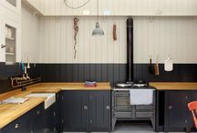 Kitchens in Black / Clever, clever uses of The Powerful in the heart of a home.  At least consider it. / by Renee Lascala