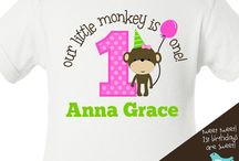 First Birthday Shirts / by zoey's attic / pecking order