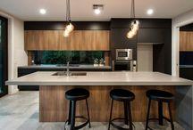 Timber n black kitchen