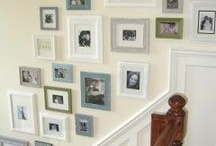 Wall Of Frames Stairs