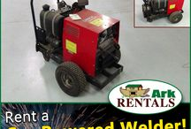 Gas Powered Welders / Welders that are powered by a gas engine generator, they can be moved anywhere and get the job complete. Call: 570-366-1071 or Email: Info@arkrentals.com.