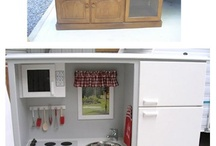 A Completely Handmade Play Kitchen / by Kathy Hoiland