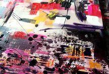peinture art abstrait / Peinture art abstrait contemporain modeles uniques créations originales